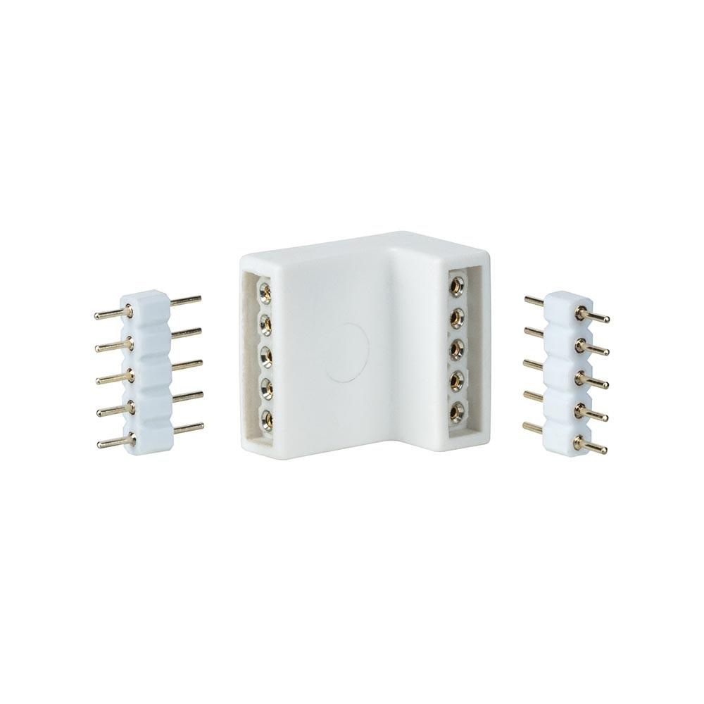 MaxLED Eckverbinder Weiß 4er-Pack inkl. 8 Steckverbinder 1