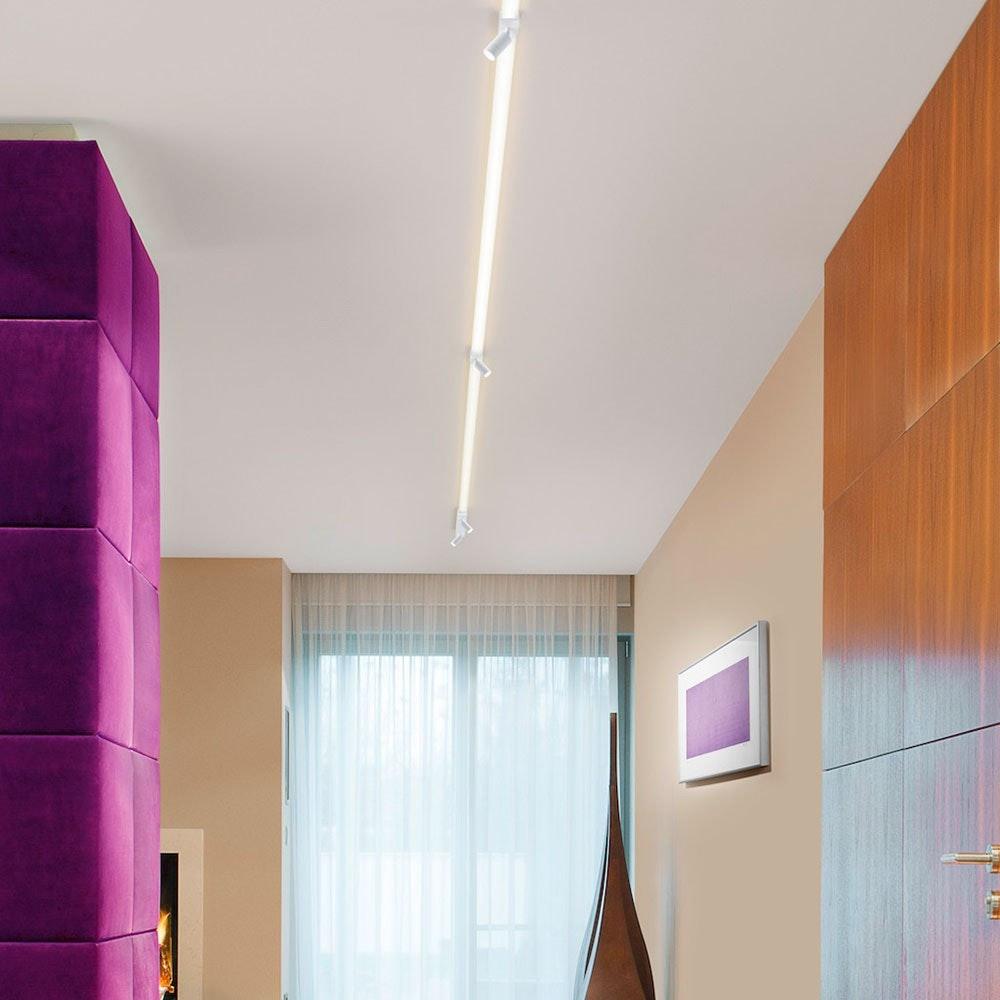 Helestra LED Strahler-Deckengehäuse Mitteleinspeisung Vigo Weiß 5