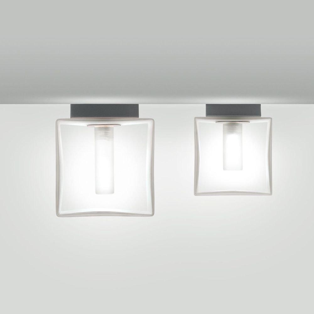Panzeri Domino Wandleuchte mit Glaswürfel