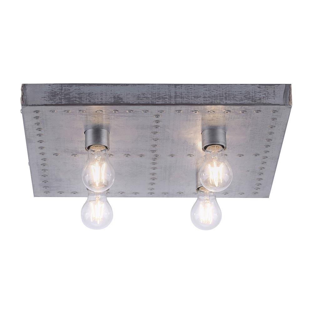 Deckenlampe Samia Vintagestil 4-flg. Eisen 3