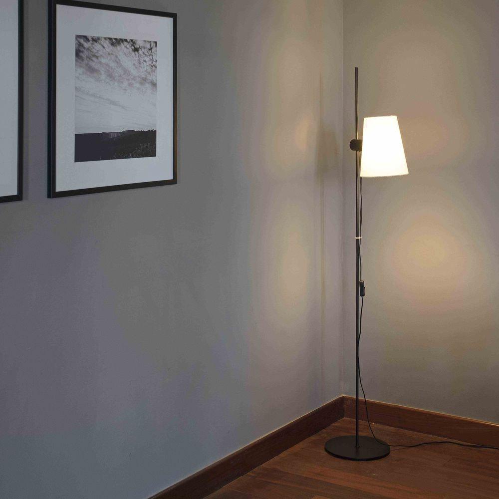 Lupe Stehlampe 150cm Schwarz ohne Schirm