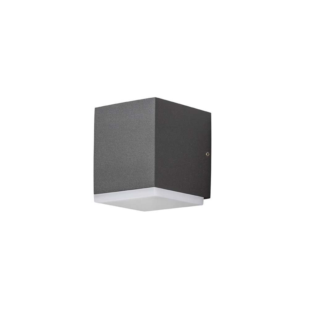 Monza LED Aussen-Wandleuchte Anthrazit, opales Kunststoffglas