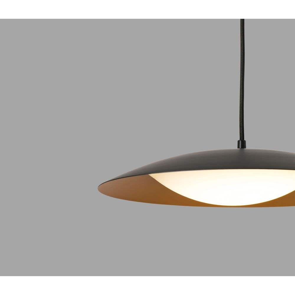 LED Pendelleuchte SLIM IP20 Schwarz, Goldfarben 2