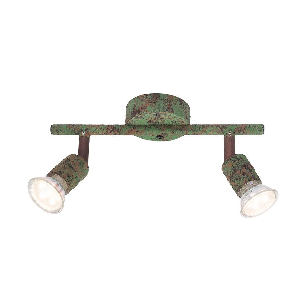 LED Strahler Olana 2-flg. Grün, Rostfarben 3