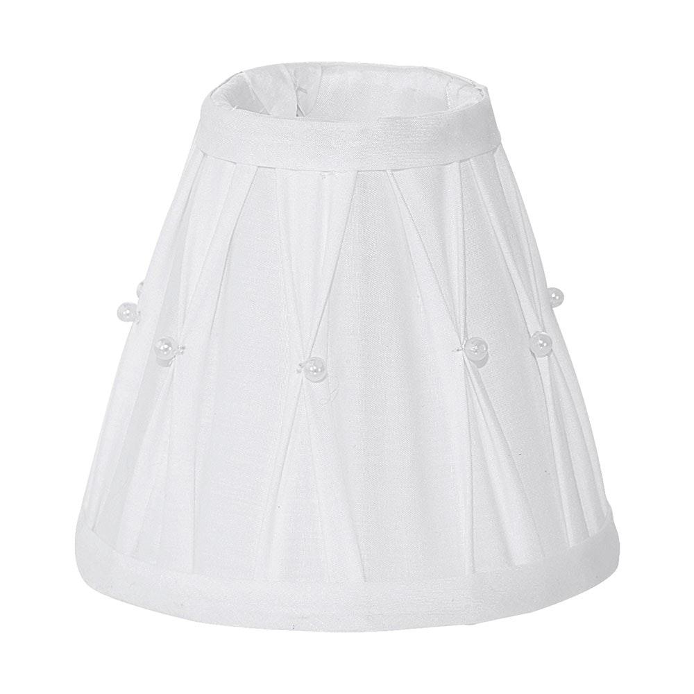 1+1 Vintage Lampenschirm Ø 14cm mit Dekor Weiß
