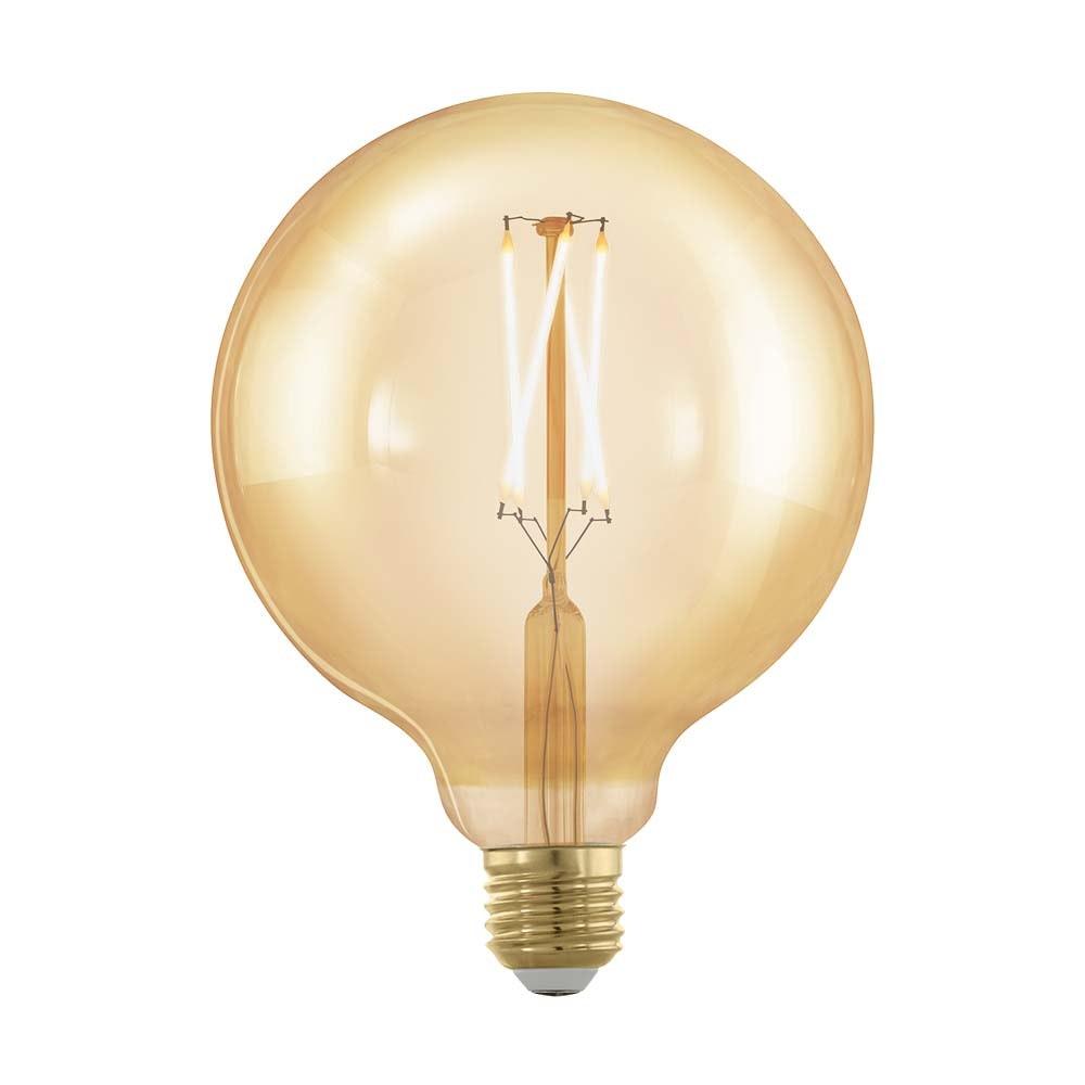E27 Retro LED Globe Ø12, 5 4W, 320lm 1700K Amber