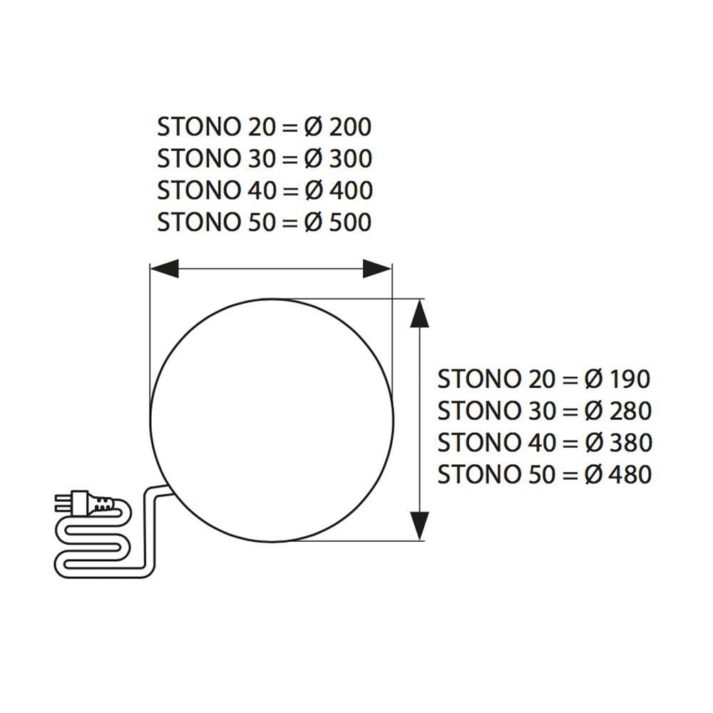 Steinoptik Gartenkugel Ø50cm IP65 7