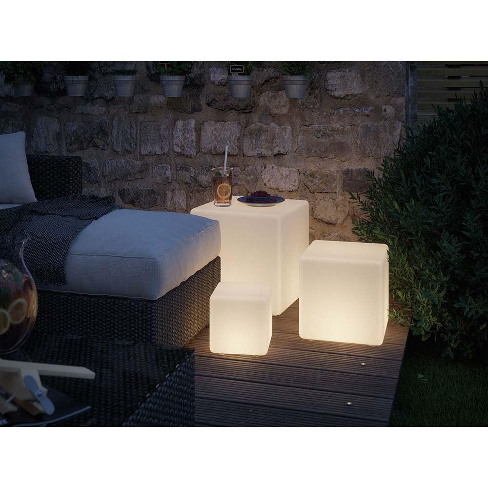 LED Plug & Shine Lichtobjekt Cube 20x20cm IP67 24V 3000K 235lm 2