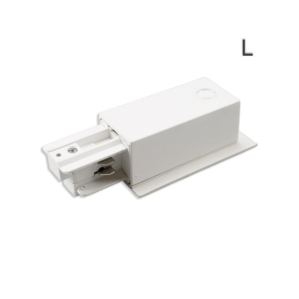 3-Phasen Einbau Seiten-Einspeisung Schutzleiter links Weiß