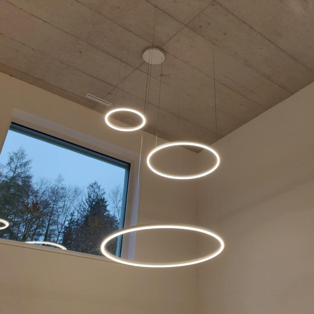 s.LUCE Ring 80 direkt oder indirekt LED Pendelleuchte 17