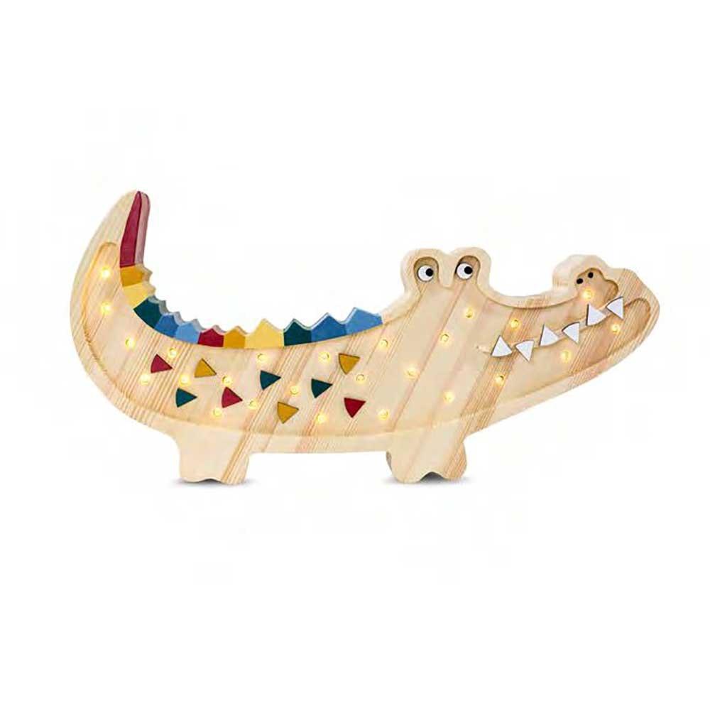 Little Lights Kinder Wand- & Tischleuchte Krokodil  2