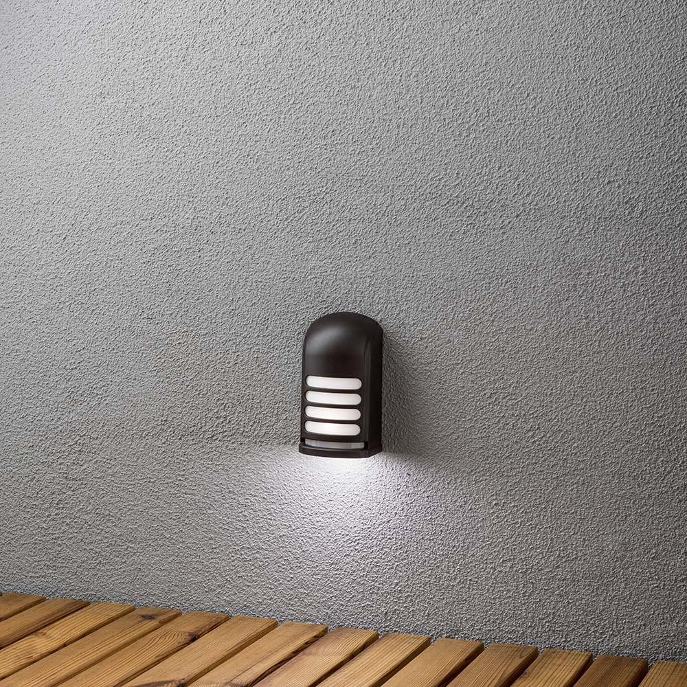 Prato Batterie LED Wandaufbauleuchte mit Bewegungsmelder 12V Schwarz 2