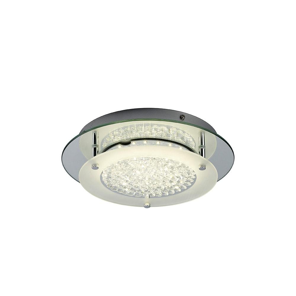 Mantra Crystal LED Mirror runde Deckenlampe 6