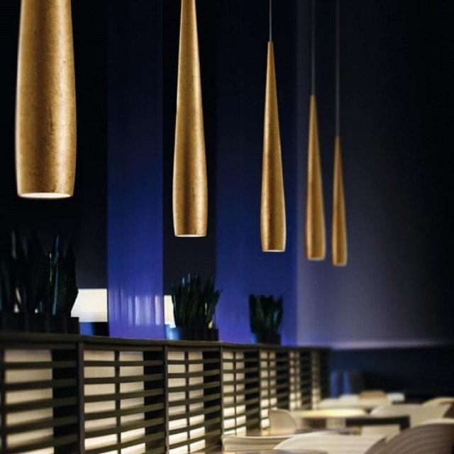 Panzeri Line Metall LED Pendelleuchte konisch 1