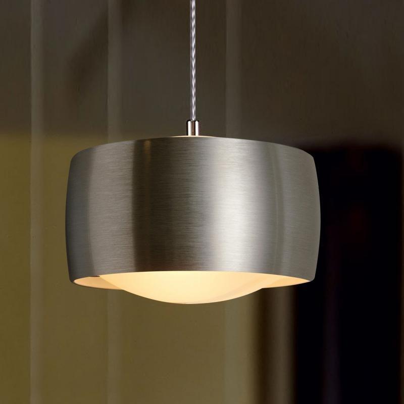 Oligo LED Pendellampe Grace mit Gestensteuerung Alu-Gebürstet