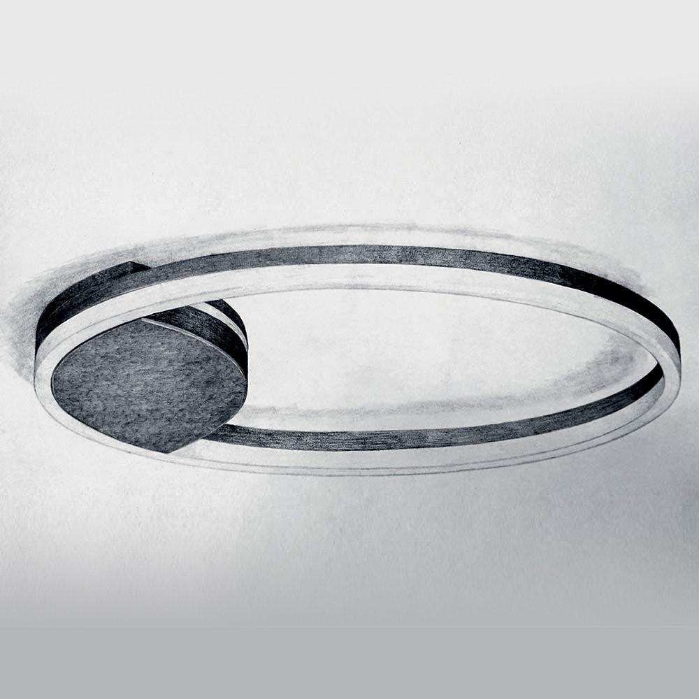 s.LUCE Ring 60 LED Wand & Deckenleuchte Dimmbar 25