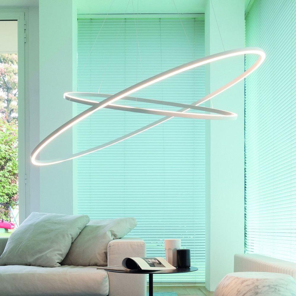 Nemo Ellisse Double Mega LED Hängeleuchte 186x95cm