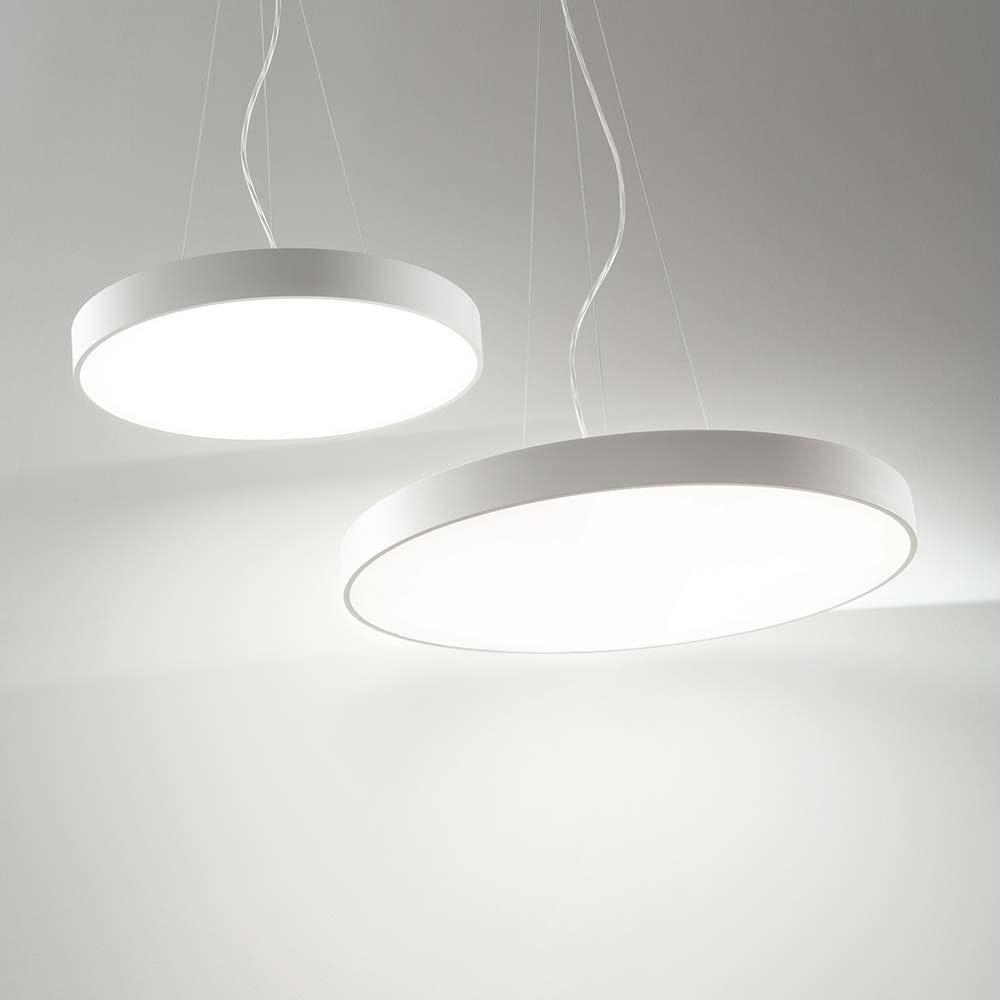 Ideal Lux LED Hängeleuchte Halo Ø 60cm 3000K Weiß 1