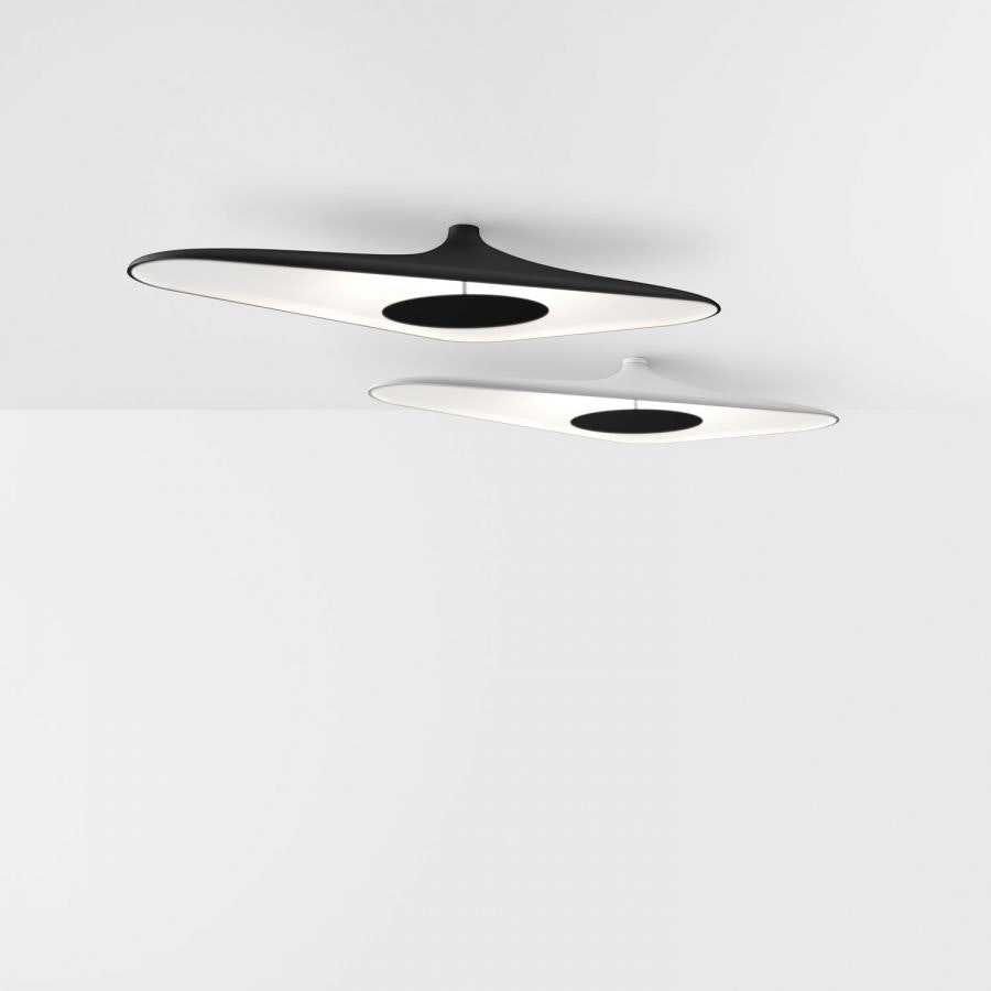 Luceplan LED Deckenlampe Soleil Noir 120 x 62cm 2