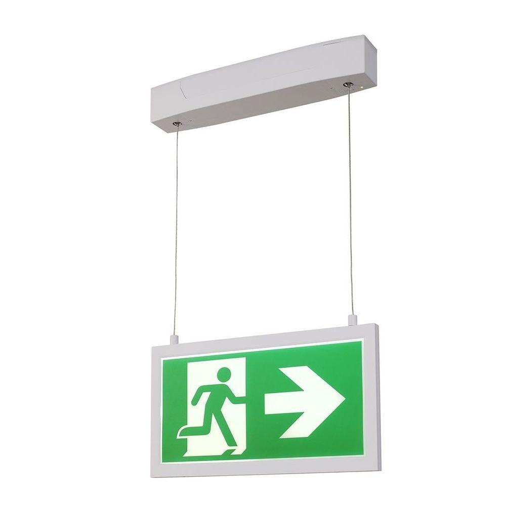SLV P-Light Emergency Series Exit Sign Big Pendant Weiß 2