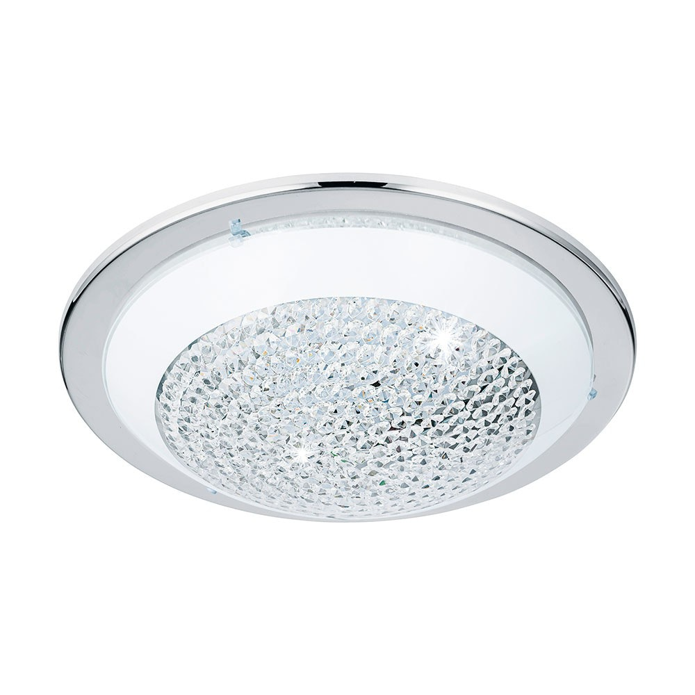 Acolla LED Deckenlampe Ø 37cm 1600lm Chrom, Weiß, Klar