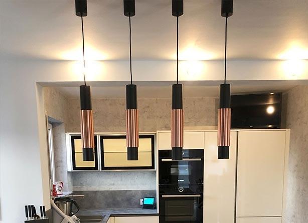 Crutch Pendellampe Küche schwarz bronze