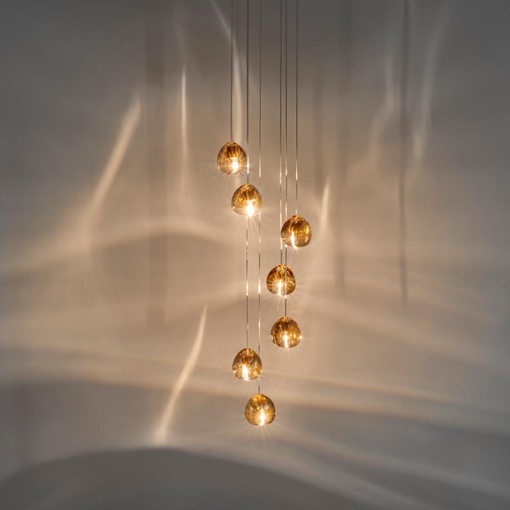 Terzani Mizu Design Hängeleuchte 7-flammig Ø 31cm 1