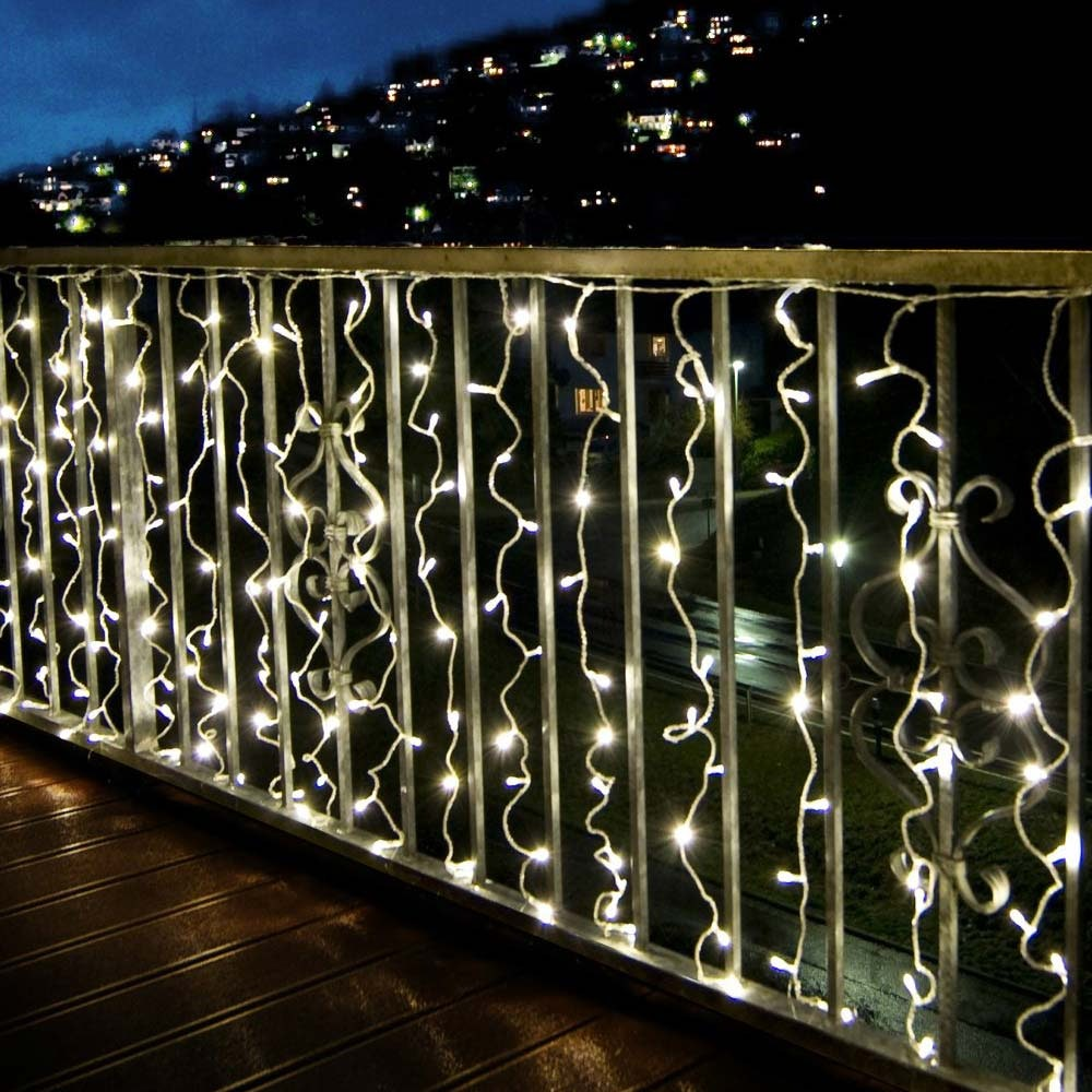 24V LED System Lichtervorhang mit 200 warmweißen LED