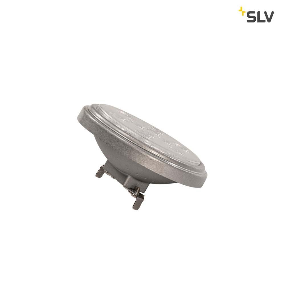 SLV LED QR111 G53 Leuchtmittel 13° Silbergrau 4000K 800lm 2