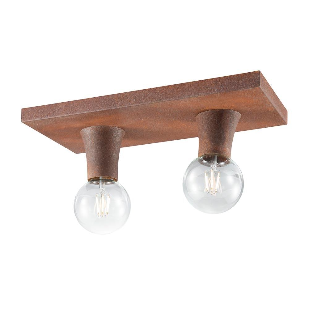 Deckenlampe Turn Me 2-flg. Rostfarben 2