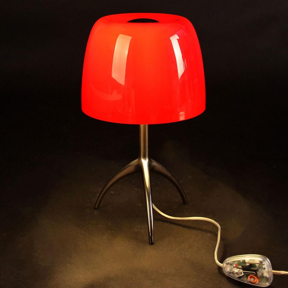 Foscarini Lumiere Piccola Tischleuchte Schwarz, Rot