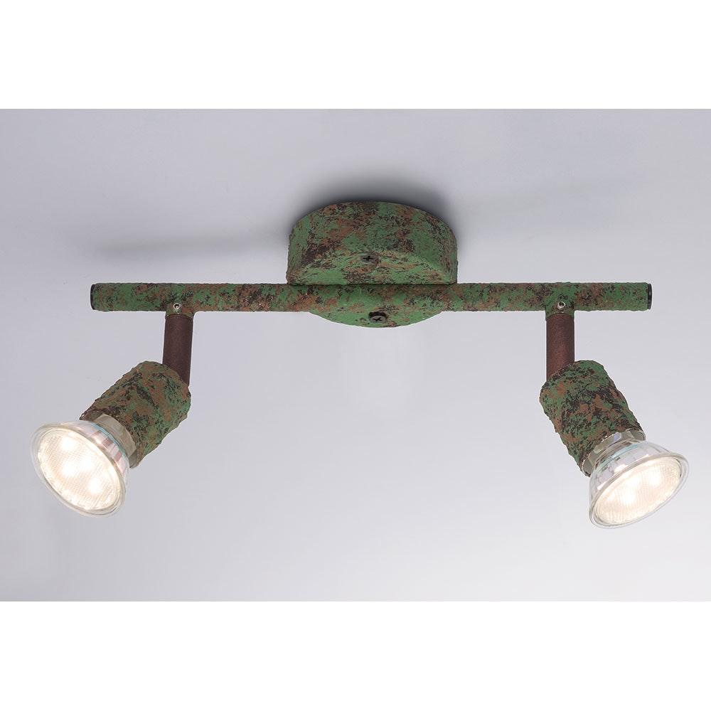 LED Strahler Olana 2-flg. Grün, Rostfarben 5