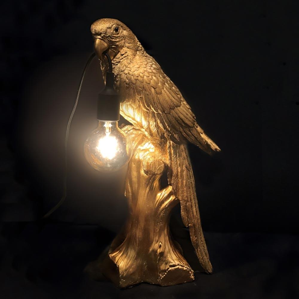 Tischlampe Timmy Papagei Goldfarben 1