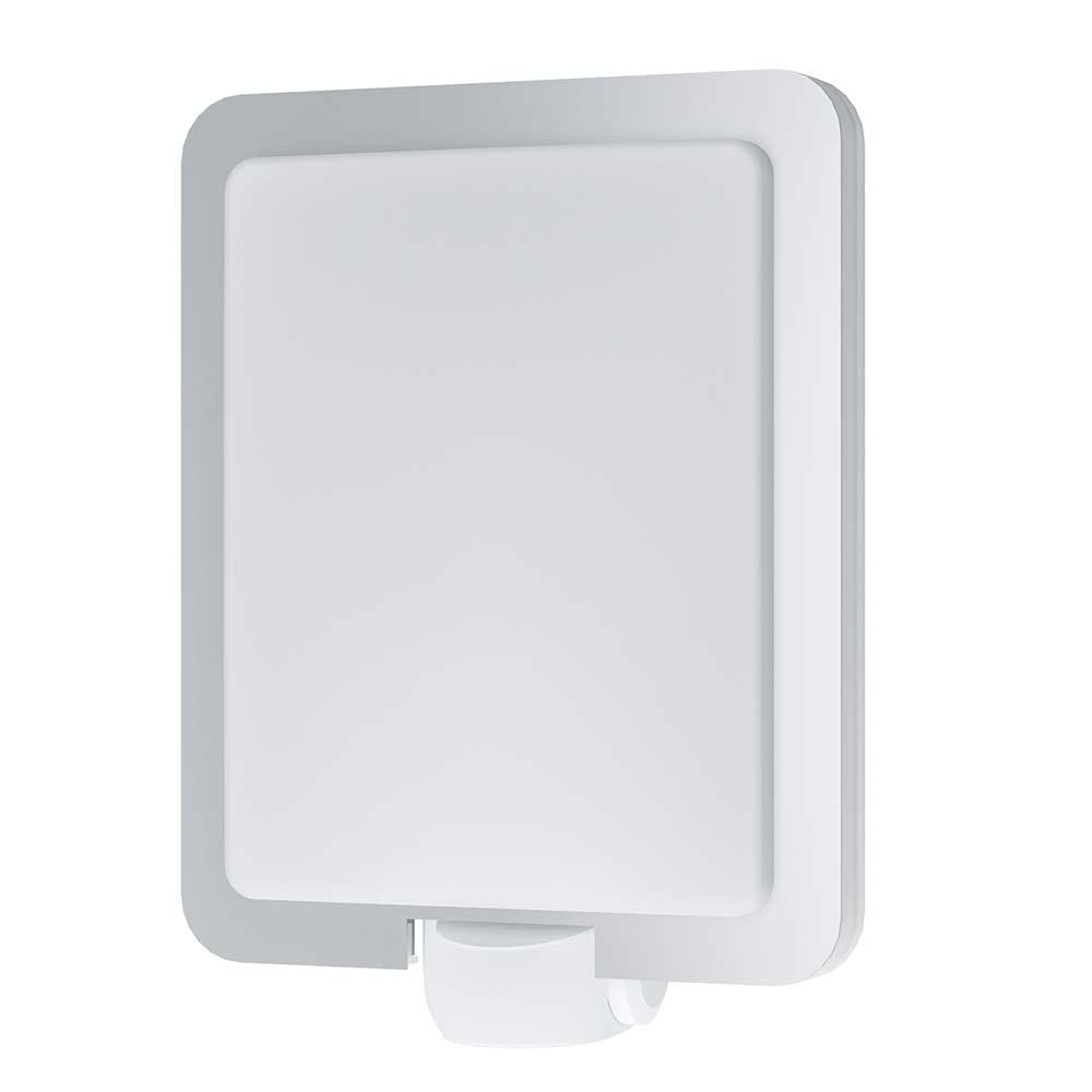 Aussen-Wandleuchte Mussotto mit Sensor Edelstahl, Weiß