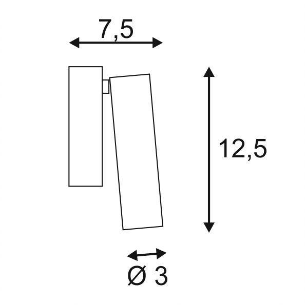 SLV Milan Single Spot LED Wand- & Deckenleuchte rund Schwarz 3000K 2