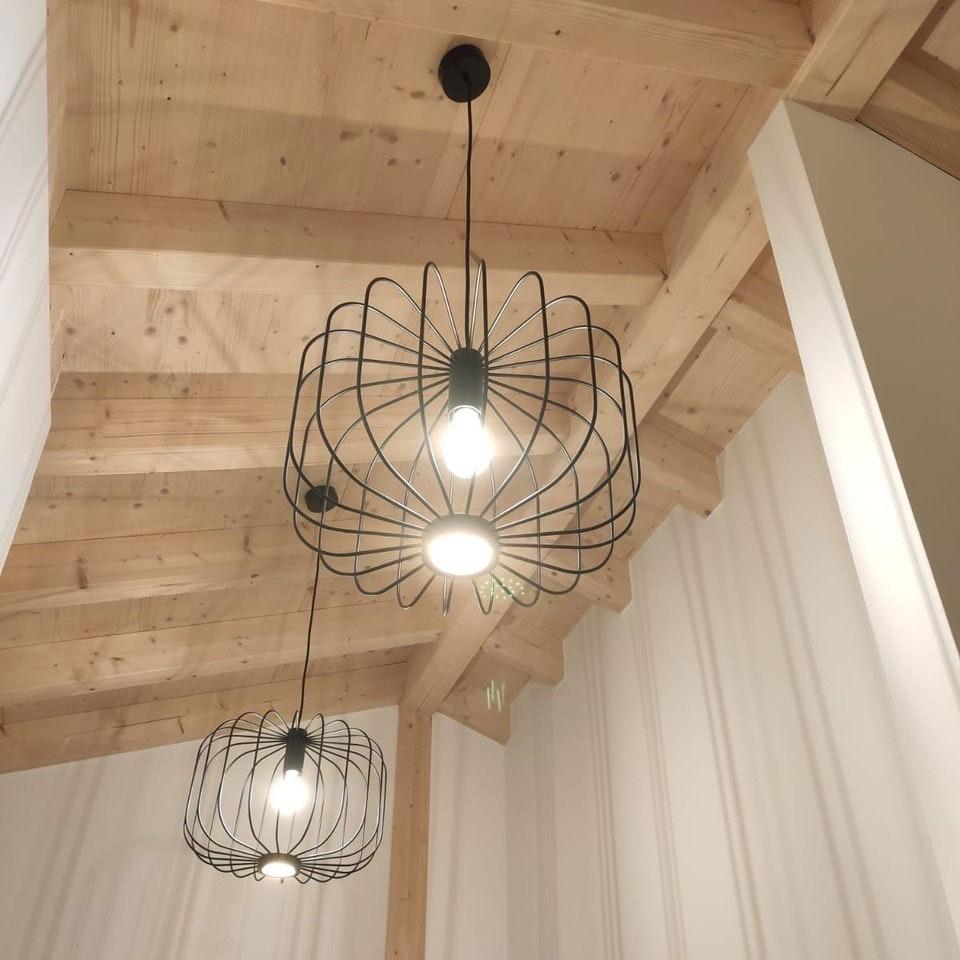 s.LUCE Rooms L direkt & indirekte Gitter-Hängeleuchte Ø 48cm 11