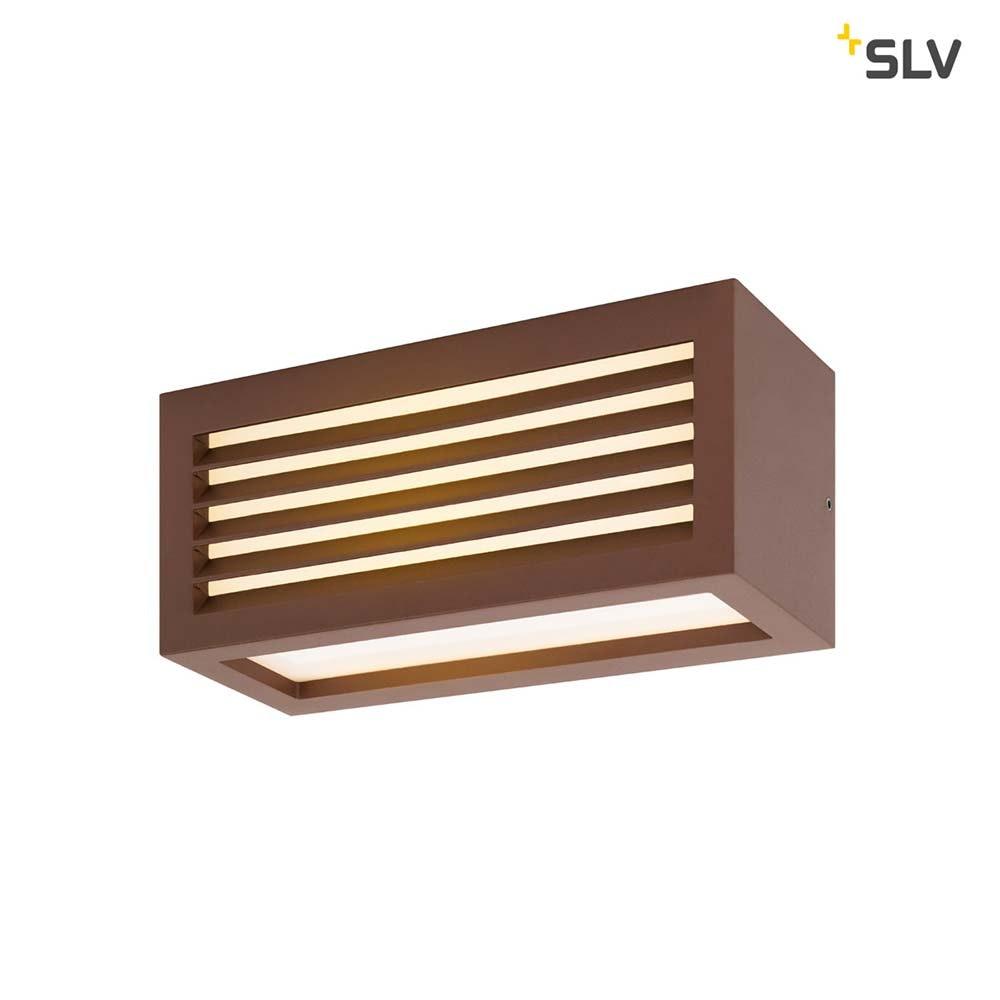 SLV Box_L LED Aussen-Aufbauleuchte Rostfarben IP44