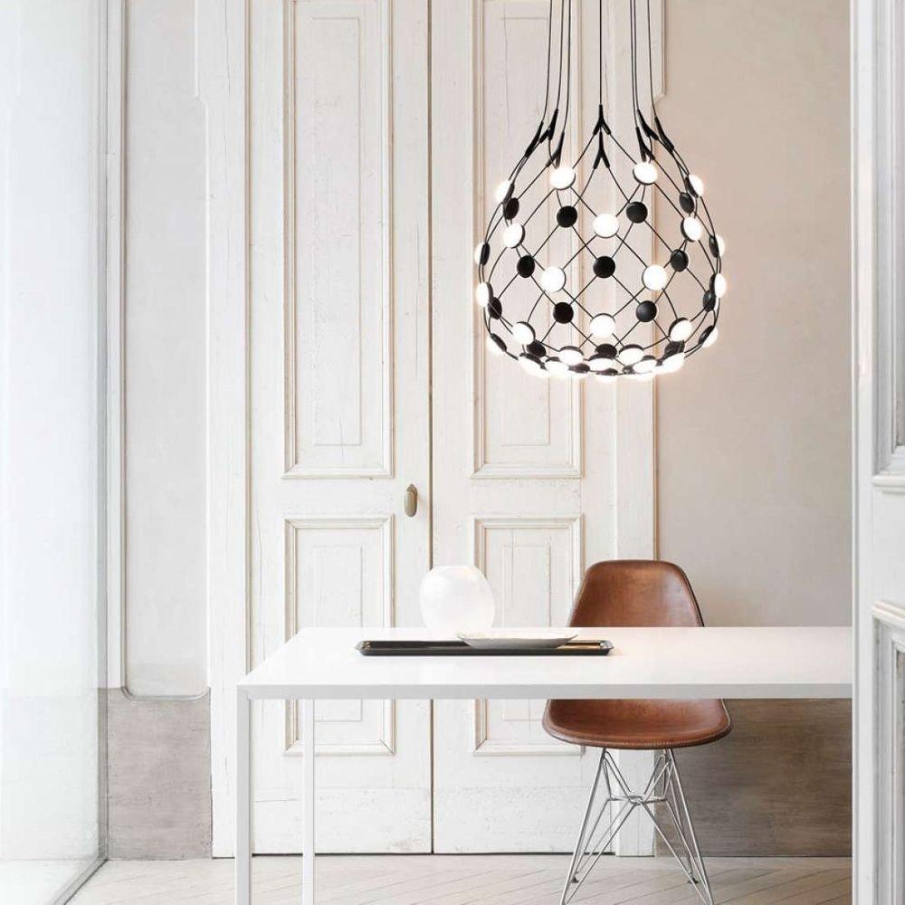 Luceplan LED Hängelampe Mesh Ø 55cm, max. 100cm 2