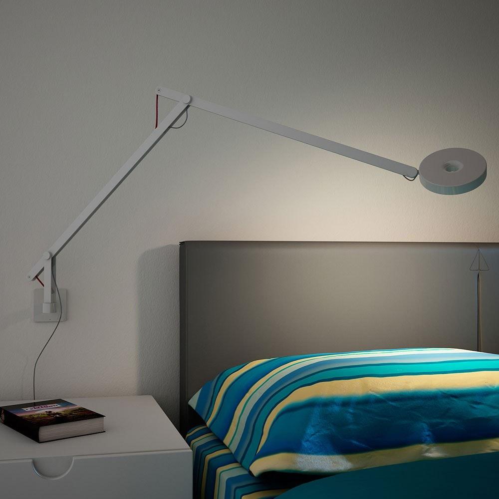 String LED-Wandleuchte mit Dimmer Silber 2
