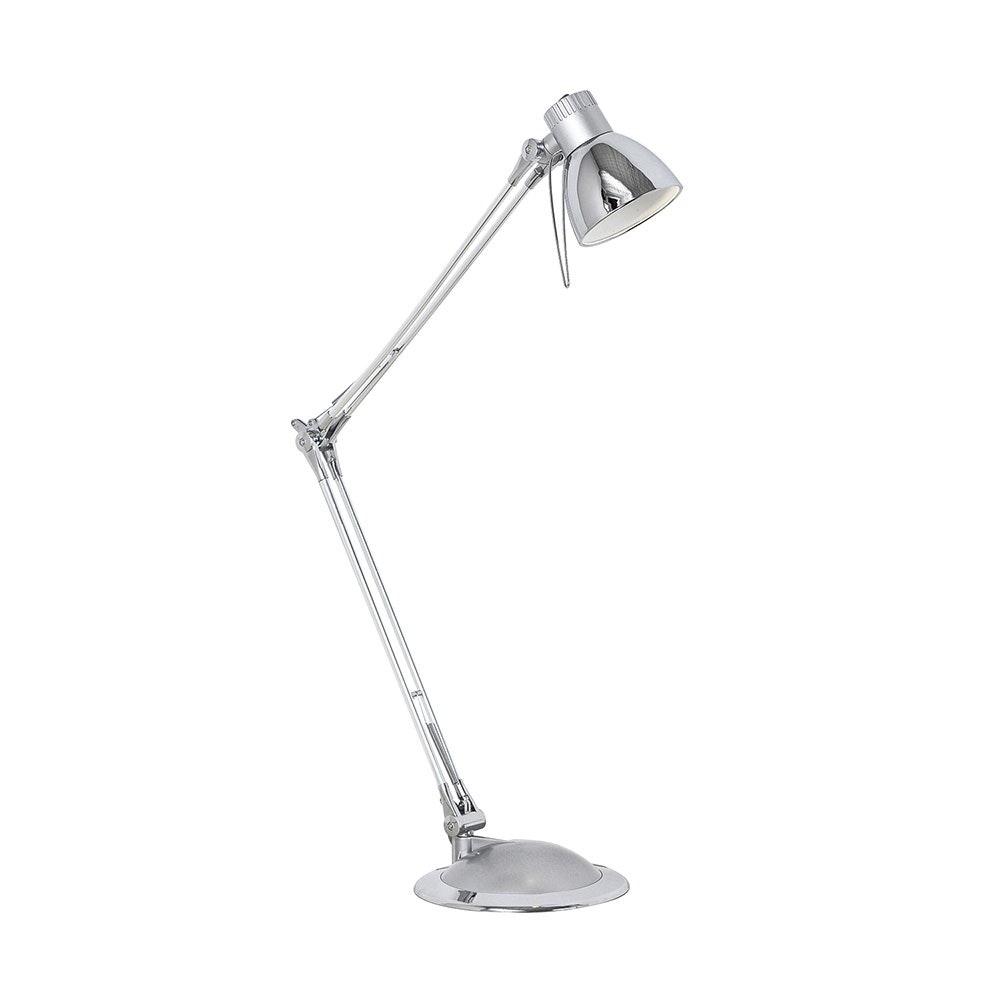 Plano LED Tischleuchte Silber, Chrom