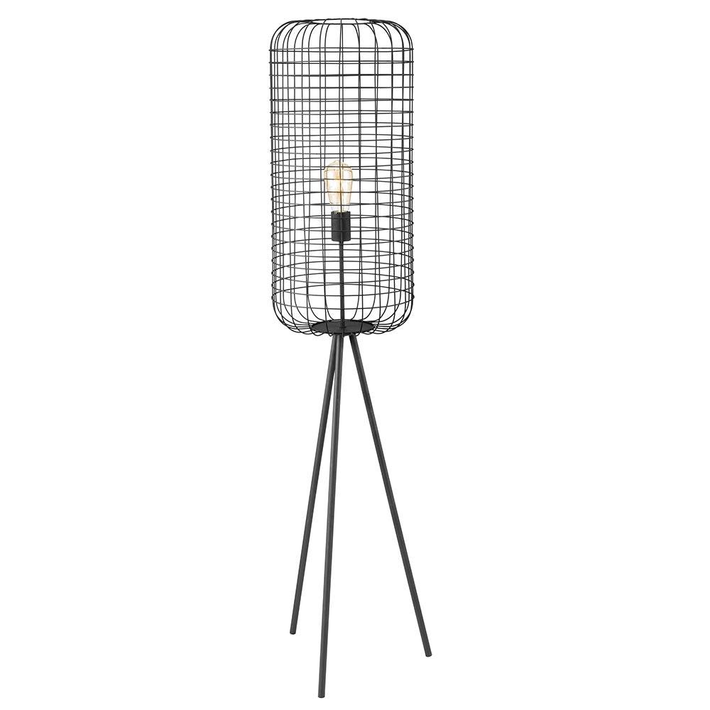 Stehlampe Fabio 135cm Cage-Optik Schwarz 1