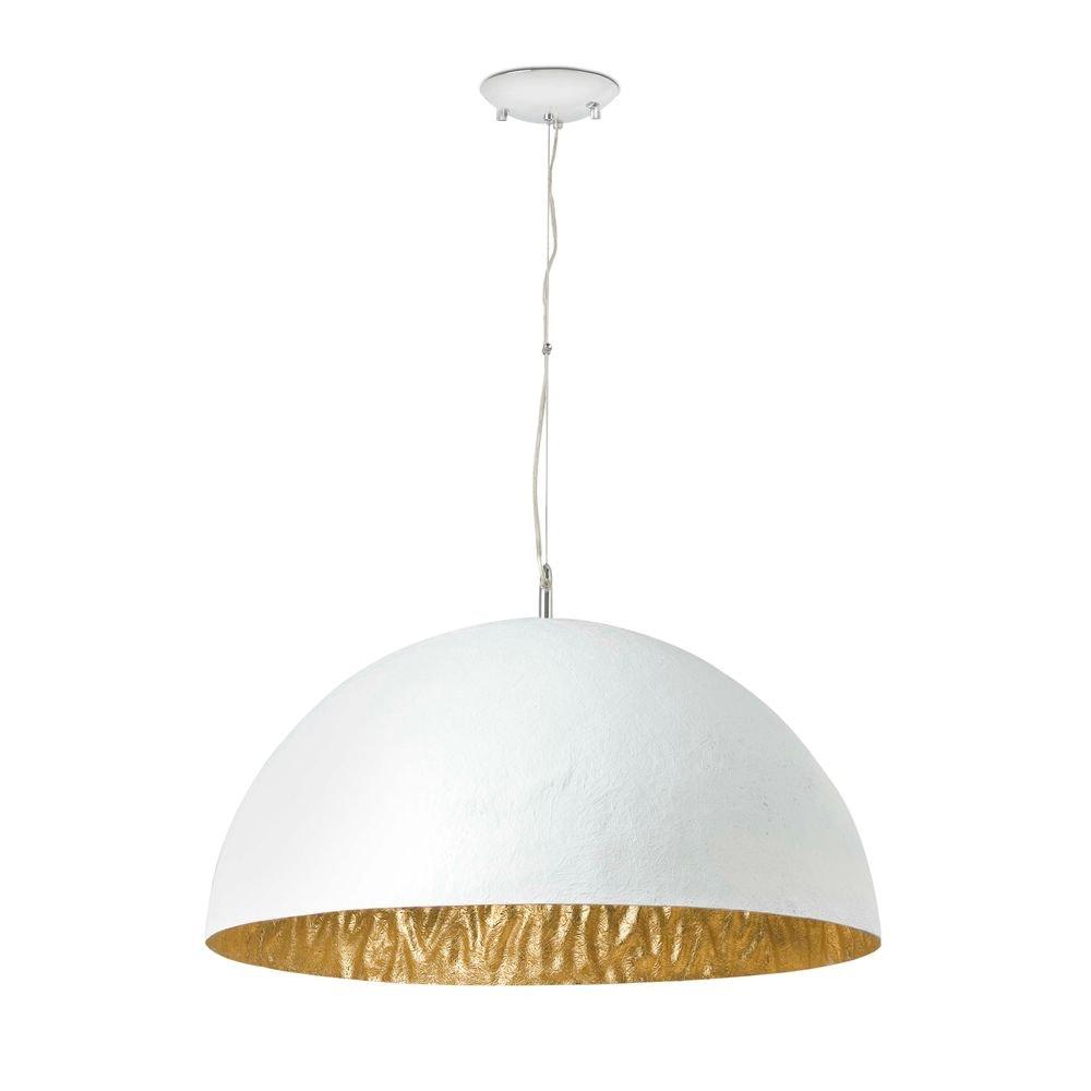 Pendelleuchte MAGMA-Q 3-flammig Weiß, Goldfarben