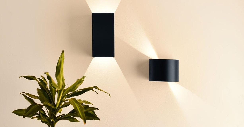 Runde oder rechteckige Wandbeleuchtung mit Lichtpegel