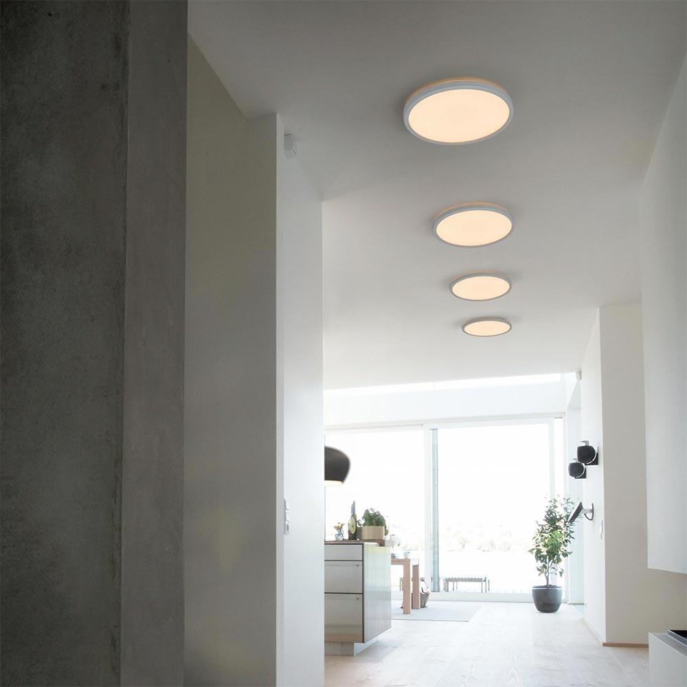 LED Deckenleuchte Board 42 Direkt & Indirekt 2700K Dimmbar per Schalter Weiß thumbnail 5