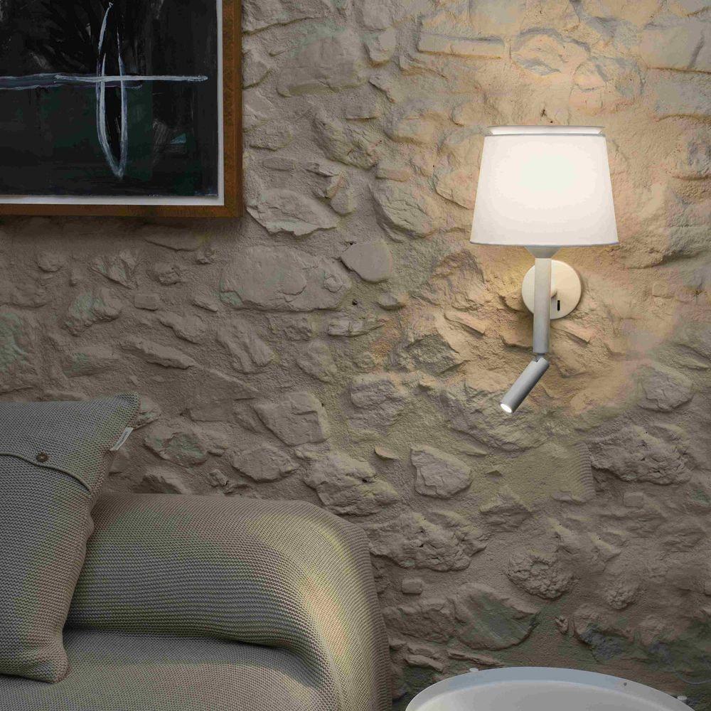 Savoy Wandleuchte mit LED Lesearm (ohne Schirm) 1
