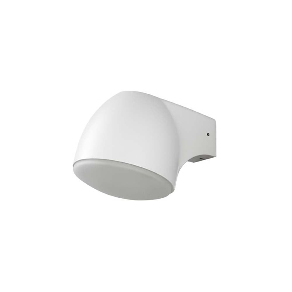 Ferrera LED Aussen-Wandleuchte Weiß, gefrostetes Glas 3