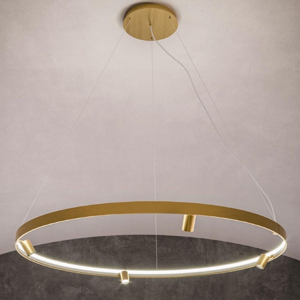 Panzeri Arena LED-Ring Pendelleuchte mit Spots thumbnail 5