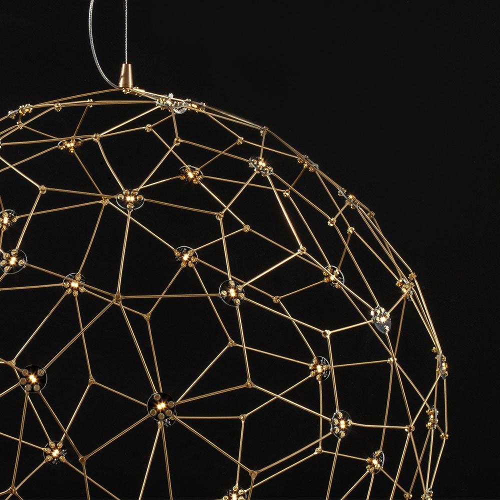 Nova Luce Sole LED-Drahtkugel Hängelampe Goldfarben 1
