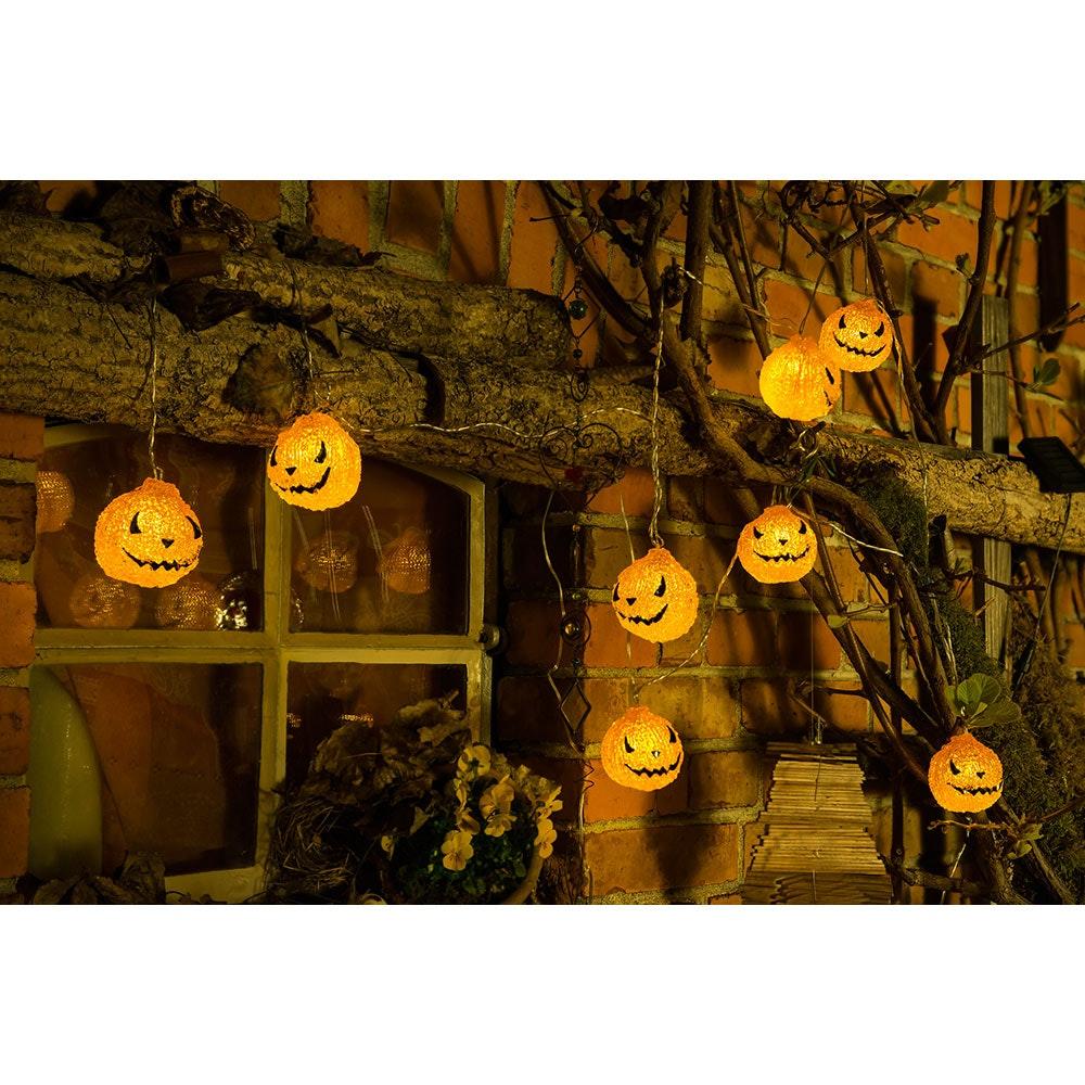 LED Halloween Dekolichterkette Kürbis batteriebetrieben 2