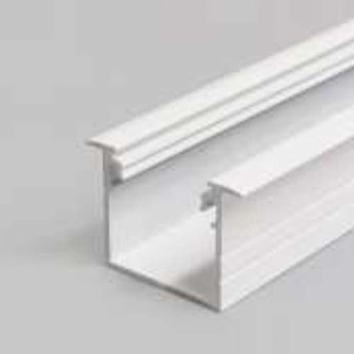 Einbauprofil tief 200cm Weiß ohne Abdeckung für LED-Strips 1